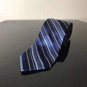 Michael Kors 100% Silk Tie Blue Stripe